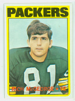 1972 Topps Football 33 Rich McGeorge Green Bay Packers Near-Mint