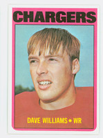 1972 Topps Football 47 Dave Williams San Diego Chargers Near-Mint Plus