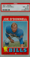 1971 Topps Football 4 Joe O' Donnell Buffalo Bills PSA 8 OC