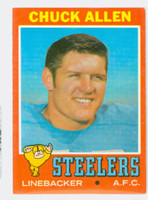1971 Topps Football 6 Chuck Allen Pittsburgh Steelers Excellent