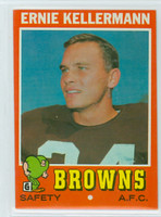 1971 Topps Football 7 Ernie Kellermann Cleveland Browns Near-Mint