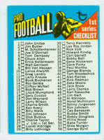 1971 Topps Football 27 Checklist One Very Good to Excellent