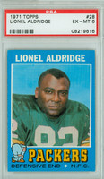 1971 Topps Football 28 Lionel Aldridge ROOKIE Green Bay Packers PSA 6 Excellent to Mint