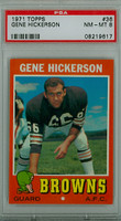 1971 Topps Football 36 Gene Hickerson Cleveland Browns PSA 8 Near Mint to Mint