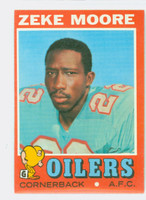 1971 Topps Football 43 Zeke Moore Houston Oilers Excellent to Mint