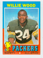 1971 Topps Football 55 Willie Wood Green Bay Packers Very Good