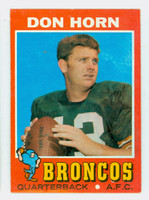 1971 Topps Football 59 Don Horn Denver Broncos Very Good to Excellent