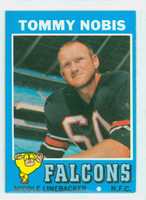1971 Topps Football 60 Tommy Nobis Atlanta Falcons Excellent to Excellent Plus