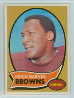 1970 Topps Football 8 Erich Barnes Cleveland Browns Near-Mint