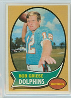 1970 Topps Football 10 Bob Griese Miami Dolphins Near-Mint