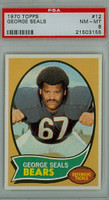 1970 Topps Football 12 George Seals Chicago Bears PSA 8 Near Mint to Mint