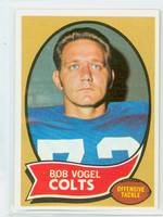 1970 Topps Football 15 Bob Vogel Baltimore Colts Excellent to Mint