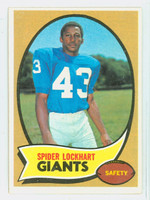 1970 Topps Football 17 Spider Lockhart New York Giants Excellent to Mint