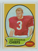 1970 Topps Football 25 Jan Stenerud ROOKIE Kansas City Chiefs Near-Mint