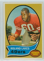 1970 Topps Football 27 Roland Lakes San Francisco 49ers Near-Mint Plus