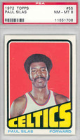 1972 Topps Basketball 55 Paul Silas Boston Celtics PSA 8 Near Mint to Mint