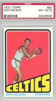 1972 Topps Basketball 92 Don Nelson Boston Celtics PSA 8 Near Mint to Mint