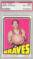 1972 Topps Basketball 93 Abdul Rahman Buffalo Braves PSA 8 Near Mint to Mint