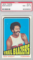 1972 Topps Basketball 101 Ron Knight Portland Trail Blazers PSA 8 Near Mint to Mint
