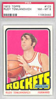 1972 Topps Basketball 103 Rudy Tomjanovich Houston Rockets PSA 8 Near Mint to Mint