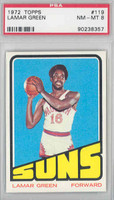 1972 Topps Basketball 119 Lamar Green Pheonix Suns PSA 8 Near Mint to Mint