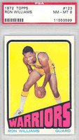 1972 Topps Basketball 123 Ron Williams San Francisco Warriors PSA 8 Near Mint to Mint
