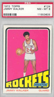 1972 Topps Basketball 124 Jimmy Walker Houston Rockets PSA 8 Near Mint to Mint