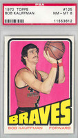1972 Topps Basketball 125 Bob Kauffman Buffalo Braves PSA 8 Near Mint to Mint