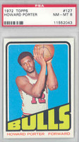 1972 Topps Basketball 127 Howard Porter ROOKIE Chicago Bulls PSA 8 Near Mint to Mint
