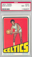 1972 Topps Basketball 131 Don Chaney Boston Celtics PSA 8 Near Mint to Mint