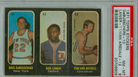 1971 Topps Basketball Trios NBA 10-12 DeBusschere / Lanier / Van Ardsdale PSA 8 Near Mint to Mint