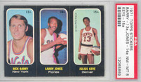 1971 Topps Basketball Trios ABA 13-15 Barry / Jones / Keye Single Print PSA 8 Near Mint to Mint