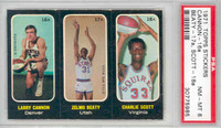 1971 Topps Basketball Trios ABA 16-18 Cannon / Beaty / Scott Single Print PSA 8 Near Mint to Mint