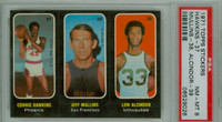1971 Topps Basketball Trios NBA 37-39 Hawkins / Mullins / Alcindor Single Print PSA 8 Near Mint to Mint