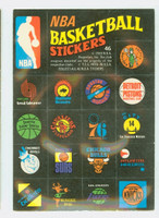 1971 Topps Basketball Trios NBA 46 - NBA Logos Excellent to Mint