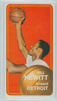 1970 Topps Basketball 56 Bill Hewitt Detroit Pistons Excellent to Excellent Plus
