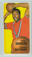 1970 Topps Basketball 92 Gus Johnson Baltimore Bullets Excellent to Excellent Plus