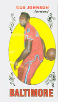 1969 Topps Basketball 12 Gus Johnson ROOKIE Baltimore Bullets Near-Mint