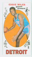 1969 Topps Basketball 21 Eddie Miles Detroit Pistons Excellent to Mint