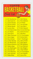 1969 Topps Basketball 99 Checklist One Excellent