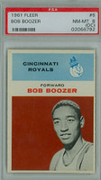 1961 Fleer Basketball 6 Bob Boozer Cincinnati Royals PSA 8 OC