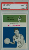 1961 Fleer Basketball 22 K.C. Jones Boston Celtics PSA 8 Near Mint to Mint