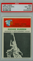 1961 Fleer Basketball 52 Richie Guerin IA New York Knicks PSA 8 OC