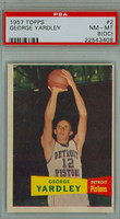1957 Topps Basketball 2 George Yardley ROOKIE Detroit Pistons PSA 8 OC