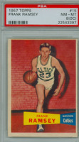 1957 Topps Basketball 15 Frank Ramsey ROOKIE Boston Celtics PSA 8 OC
