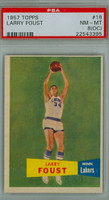 1957 Topps Basketball 18 Larry Foust Single Print Minnesota Lakers PSA 8 OC