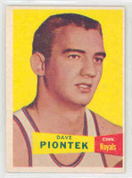 1957 Topps Basketball 31 Dave Piontek Cincinnati Royals Excellent to Mint