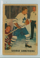 1953-54 Parkhurst Hockey 11 George Armstrong Toronto Maple Leafs Very Good