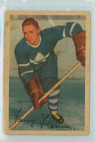 1953-54 Parkhurst Hockey 14 Fern Flaman Toronto Maple Leafs Very Good