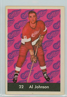 1961-62 Parkhurst Hockey 22 Al Johnson Detroit Red Wings Near-Mint
